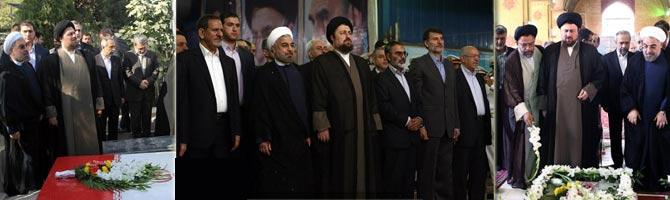 تجدید میثاق هیئت دولت با امام خمینی