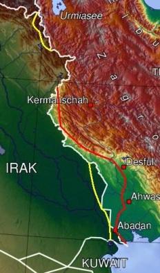 عکس منطقه مورد تجاوز عراق در ایران
