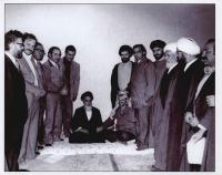 دیدار یاسر عرفات با امام در قم