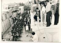 رژه نظامیان از مقابل امام در قم