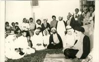 دیدار عرب ها با امام در مدرسه فیضیه