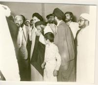 امام در مدرسه فیضیه