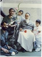 دیدار دو جانباز با امام در جماران