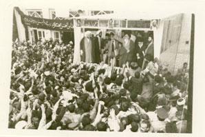 دیدار با امام در مدرسه فیضیه به مناسبت شهادت مطهری
