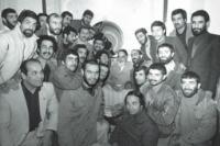 دیدار کشتی گیران بعد از برگشت از مسابقات آلبانی با امام در جماران