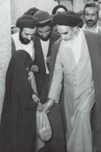 هدیه یک دختر خردسال به امام در جماران