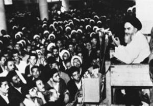 سخنرانی امام در مدرسه فیضیه قم