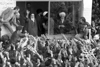 دیدار با امام خمینی در مدرسه علوی