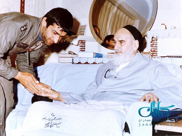 تصویر شهید بابایی به امضا و دستخط حضرت امام(ره)