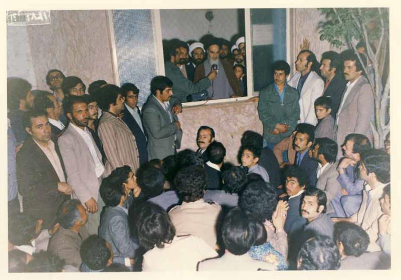 دیدار مردم با امام خمینی در قم