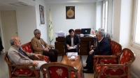 حضور پرفسور کریم زارع در موسسه تنظیم و نشر آثار امام خمینی