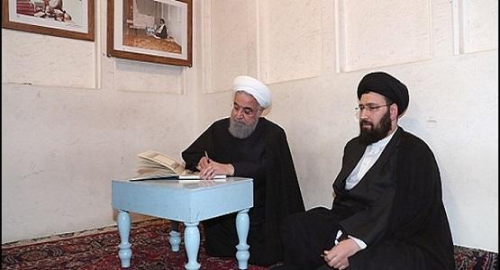 بازدید دکتر روحانی از بیت امام خمینی