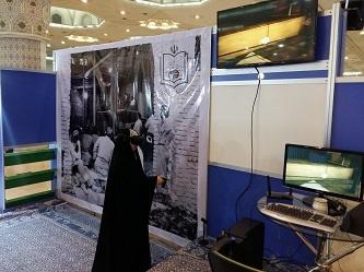 """از نرم افزار """"واقعیت مجازی جماران"""" در غرفه موسسه در نمایشگاه قرآن رونمایی شد"""