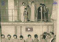 اجرای سرود دانشجویان دانشکده افسری در حسینیه جماران