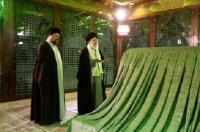 حضور رهبر معظم انقلاب در حرم امام خمینی(ره)