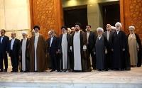 فیلم تجدید میثاق رئیس قوه قضاییه و مسئولان عالی قضایی با آرمان های امام خمینی(س)