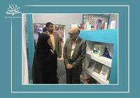 بازدید رئیس کتابخانه ملی از غرفه موسسه در نمایشگاه بین المللی کتاب تهران