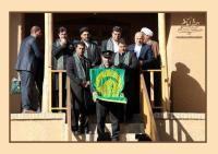 زادگاه امام خمینی میزبان خادمین و پرچم متبرک حرم امام رضا(ع)