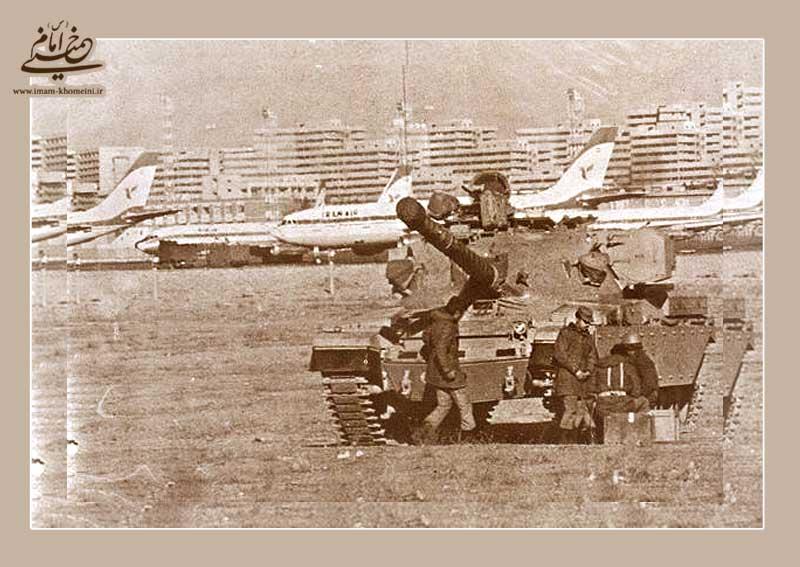 فرودگاه مهرآباد در محاصره تانک ها