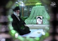 گزارش تصویری حضور رهبر معظم انقلاب در مرقد مطهر امام خمینی(س) و گلزار شهیدان