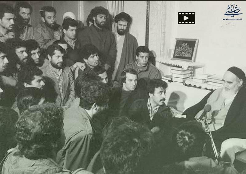 دیدار به یادماندنی ستاره های فوتبال با امام خمینی