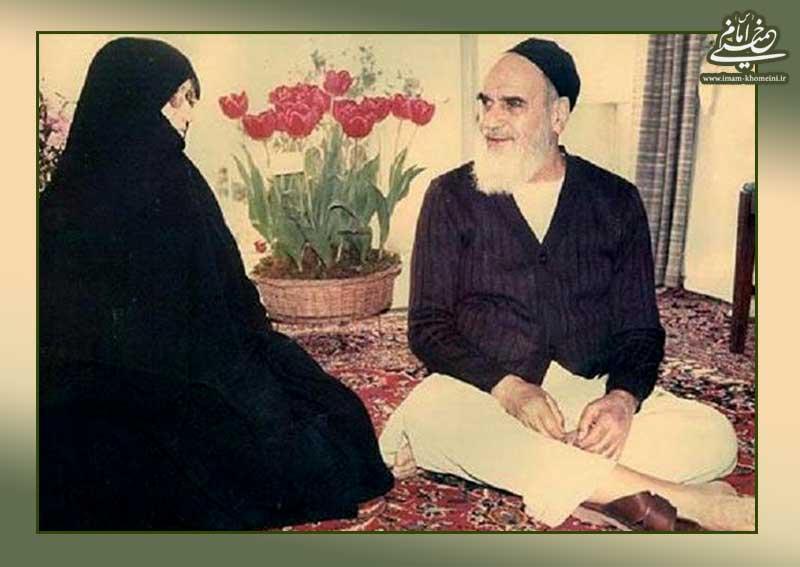احترام فراوان امام به خانم