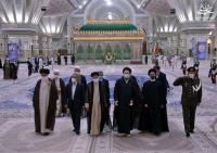 گزارش تصویری تجدیدمیثاق رئیس قوه قضائیه و مسئولان عالی قضایی با آرمان های حضرت امام