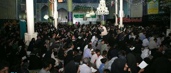 مراسم احیای شب بیست و یکم ماه مبارک رمضان در حرم مطهر حضرت امام برگزار شد