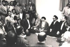 گفتگوی امام با اساتید دانشگاه پیرامون دولت موقت و مسائل ایران در نخستین روزهای پیروزی انقلاب