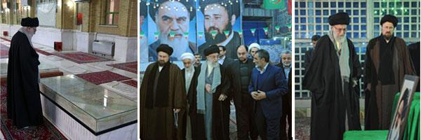 حضور رهبر معظم انقلاب اسلامی در مرقد مطهر حضرت امام(س)